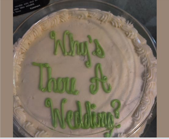 Wedding Cake Goes Viral Because Of a Typo